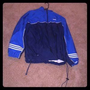 Blue and dark blue adidas jacket